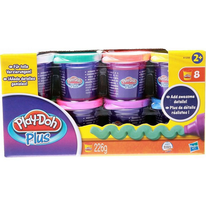 Hабор пластиліну Play-Doh Plus 8 банок