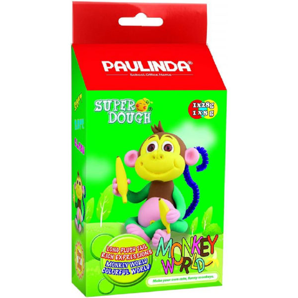 Маса для ліплення Paulinda Super Dough Monkey World мавпа з очима PL-081537-1