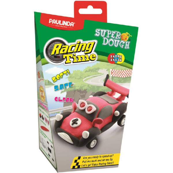 Маса для ліплення Paulinda Super Dough Racing time машинка червона PL-081161-4