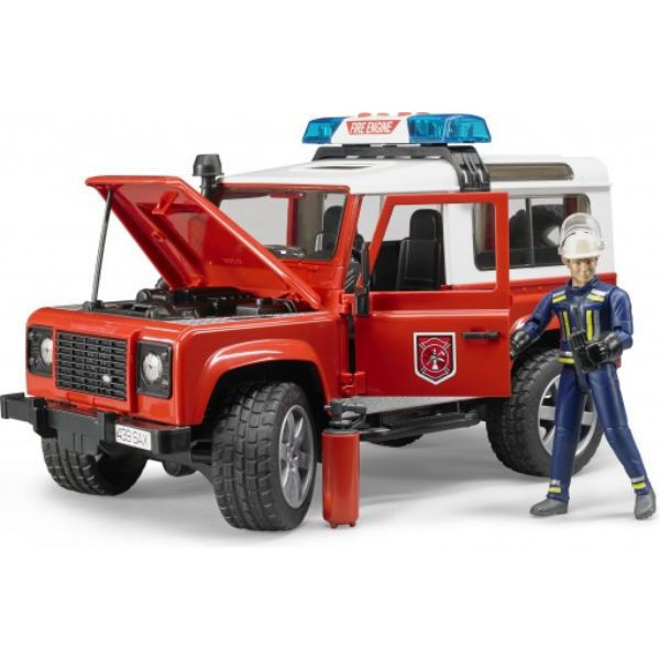 Пожарный джип Land Rover Defender Bruder-1