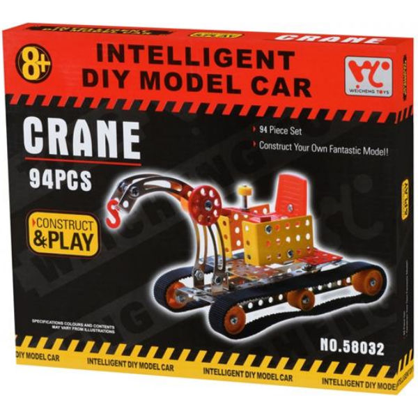 Конструктор металевий Same Toy Inteligent DIY Model Car Кран 94 ел. 58032Ut