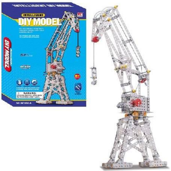 Конструктор металевий Same Toy Inteligent DIY Model Підйомний кран 629 ел. WC182AUt