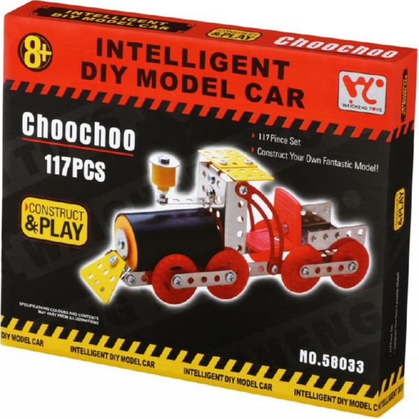 Конструктор металевий Same Toy Inteligent DIY Model Car Паравоз 117 ел. 58033Ut