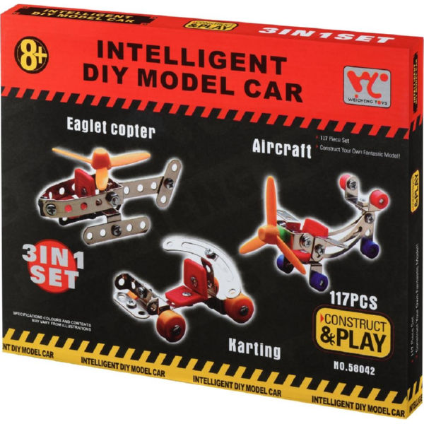 Конструктор металевий Same Toy Inteligent DIY Model Car 3в1 117 ел. 58042Ut