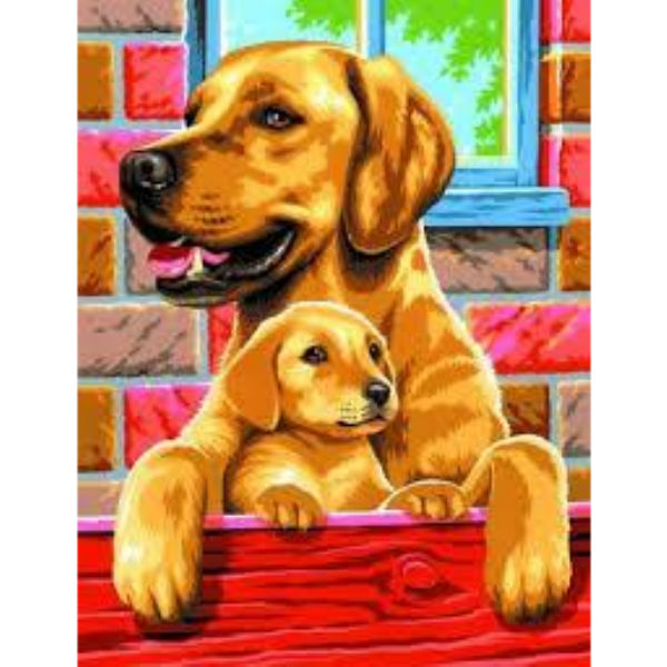 Набір для творчості Sequin Art PAINTING BY NUMBERS JUNIOR-PAIRS Собаки SA0214