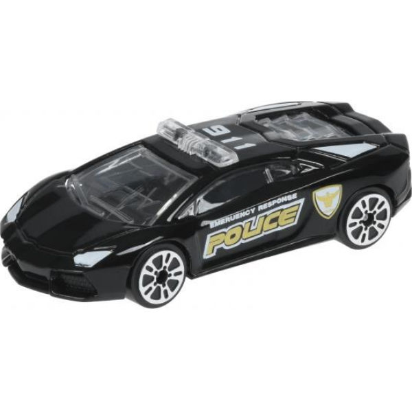 Машинка Same Toy Model Car поліція чорна SQ80992-But-3