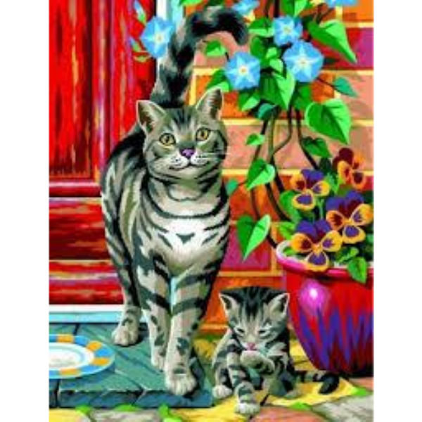 Набір для творчості Sequin Art PAINTING BY NUMBERS JUNIOR-PAIRS Коти SA0213