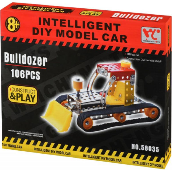 Металевий конструктор Inteligent DIY Model Car Бульдозер 106 ел. 58035Ut