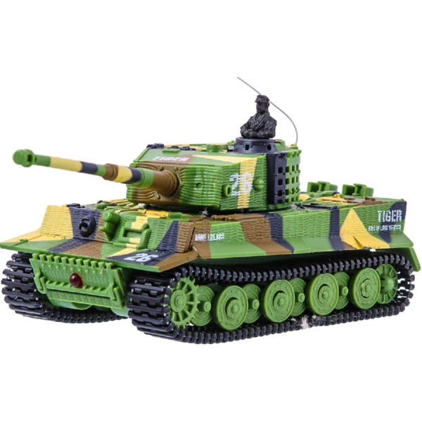 Танк микро ру 1:72 tiger со звуком (хаки зеленый) great wall toys gwt2117-1