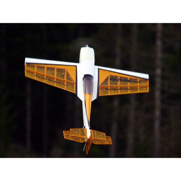 Самолёт р/у Precision Aerobatics Katana Mini 1020мм KIT (желтый)