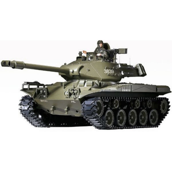 Танк р/у 1:16 Heng Long Bulldog M41A3 с пневмопушкой и и/к боем (HL3839-1)-1