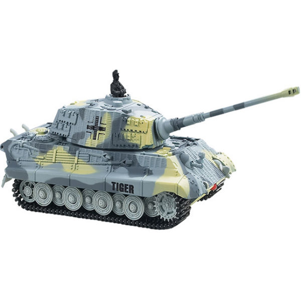 Танк микро ру 1:72 king tiger со звуком (серый, 49mhz) great wall toys gwt2203-4