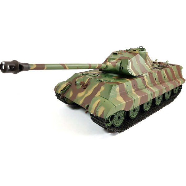 Танк на радиоуправлении 1:16 Heng Long King Tiger Porsche с пневмопушкой и и/к боем